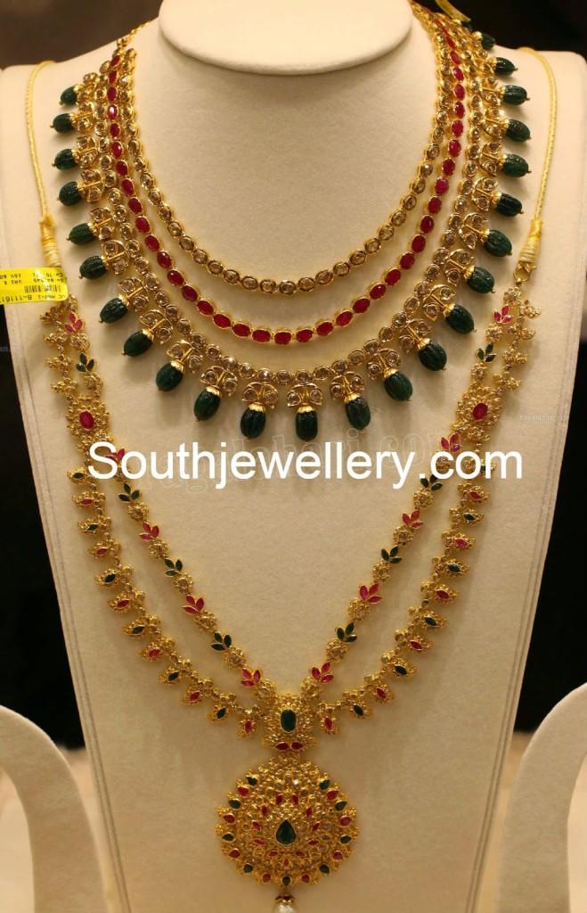 Latest Uncut Diamond Necklace Models Jewellery Designs