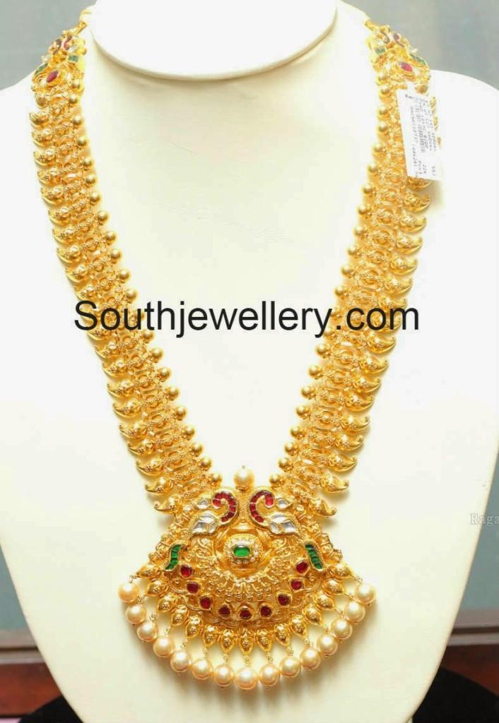2 In 1 Mango Haram Plus Vaddanam Jewellery Designs