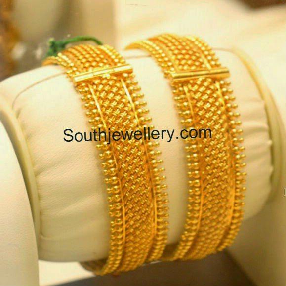 weave design gold bangles