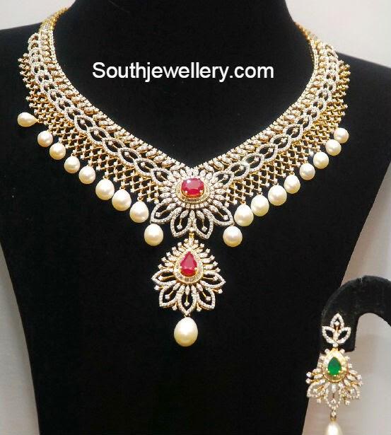 Malabar Diamond: Pretty Diamond Necklace