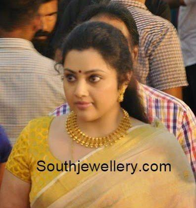 meena gold necklace
