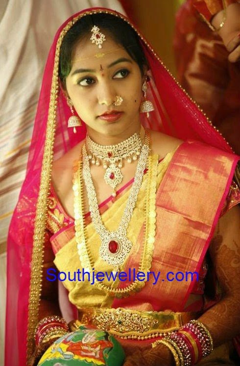 south indian bride in wedding jewellery