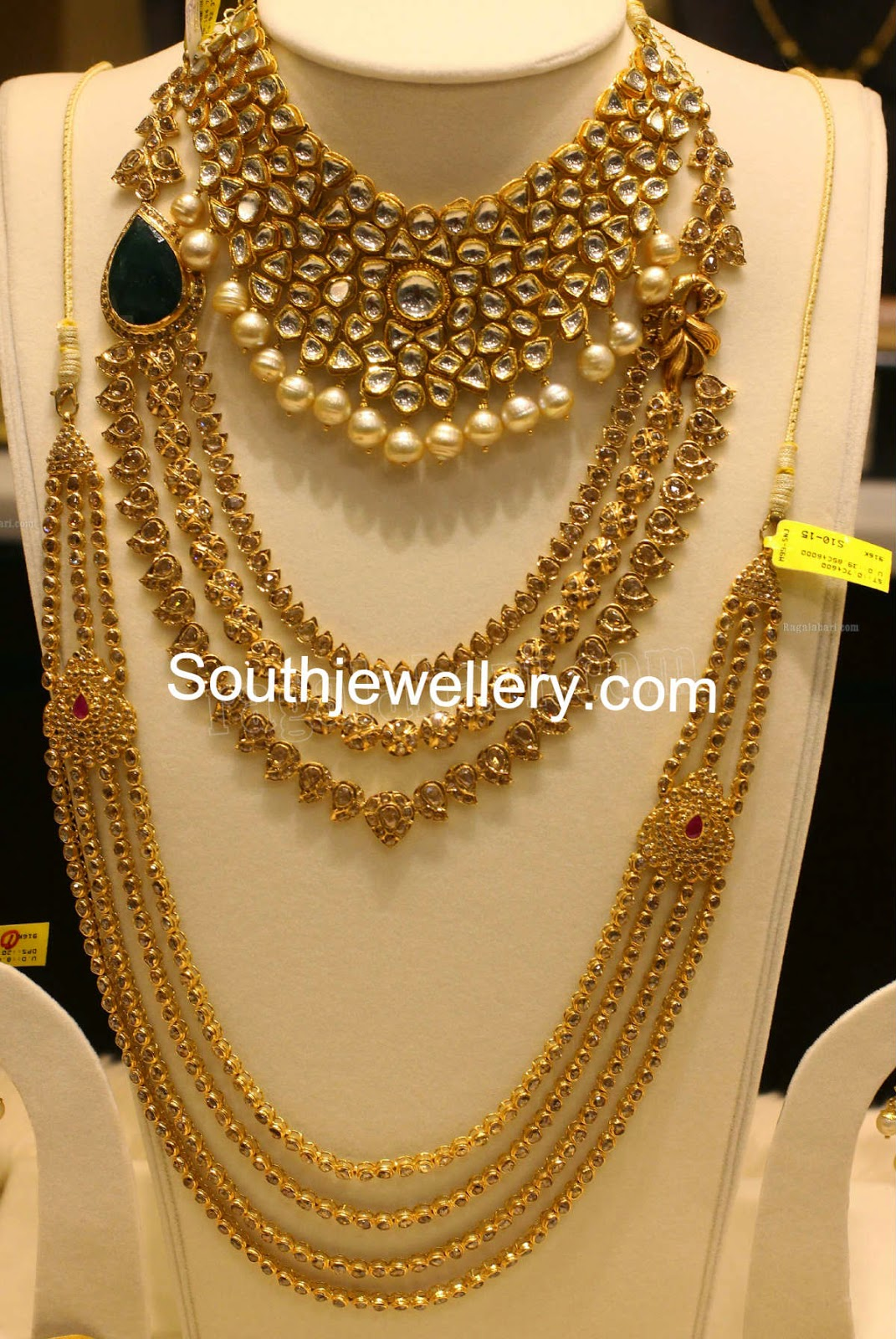 Latest uncut diamond necklace designs jewellery designs for New top jewelry nyc prices