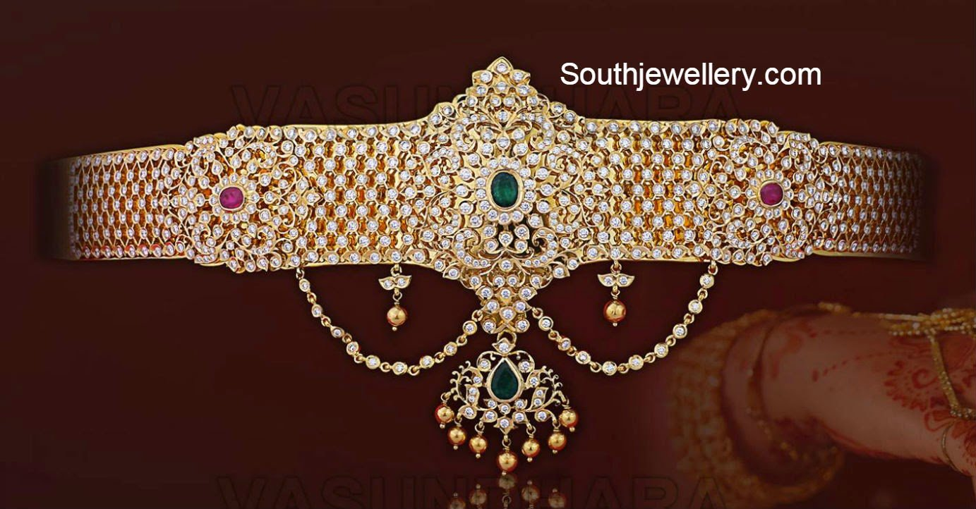 Gold vaddanam oddiyanam kammarpatta waisbelt designs south indian - Diamond_vaddanam_vasundhara_jewellers Jpg 1 383 722 Pixels Vaddanam Pinterest