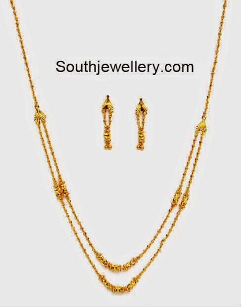 light weight gold balls necklace jewellery designs