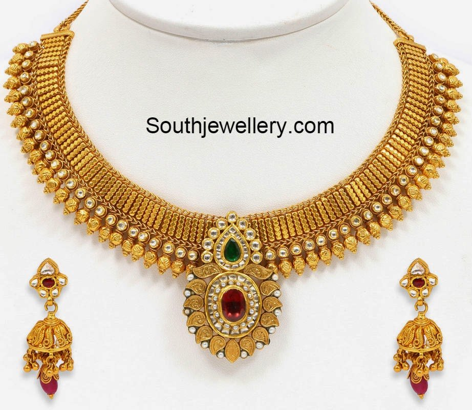 necklace plated elegant gold tika designer wear with pearl wedding arts taj formal maang jewellery set