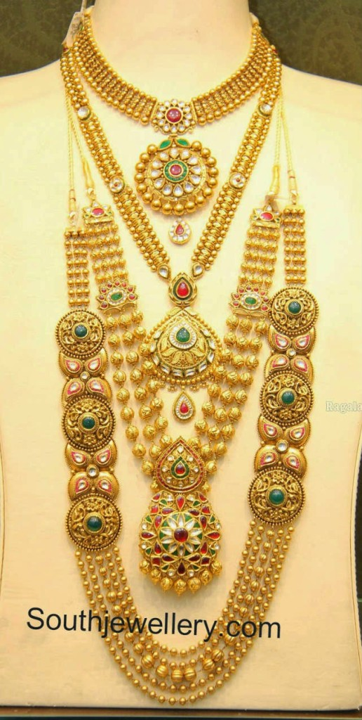 antique lakshmi gold necklaces necklace svtm jewellery