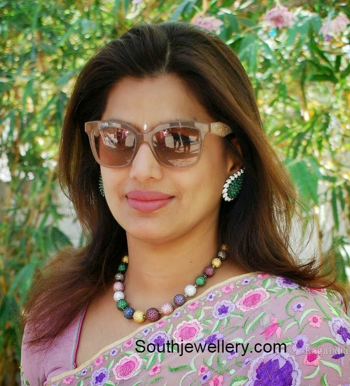 Pinky Reddy in Crystal Balls Necklace