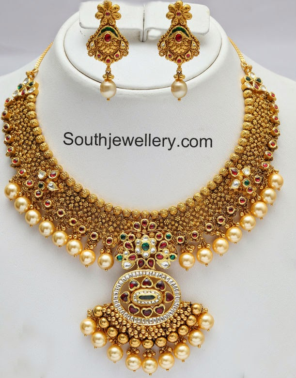 Diamond necklace set by khazana jewellers latest jewellery designs - Gold Necklace Latest Jewelry Designs Page 17 Of 62