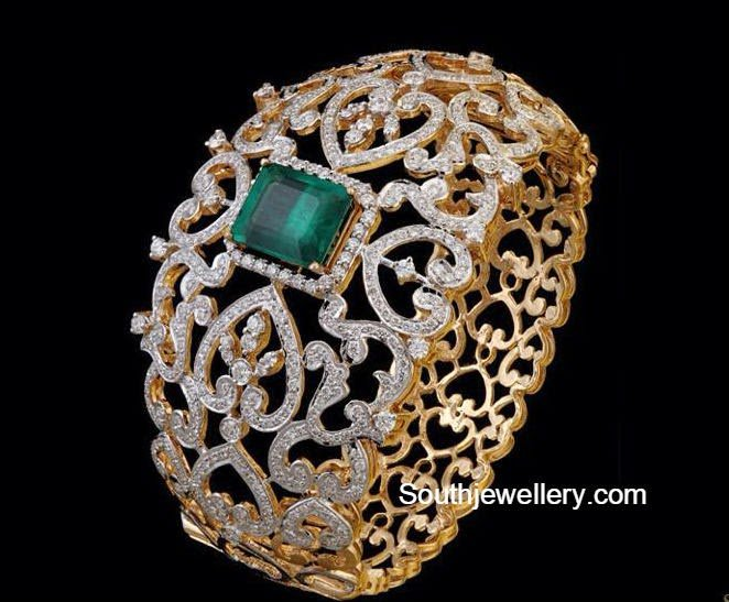 broad diamond bangle