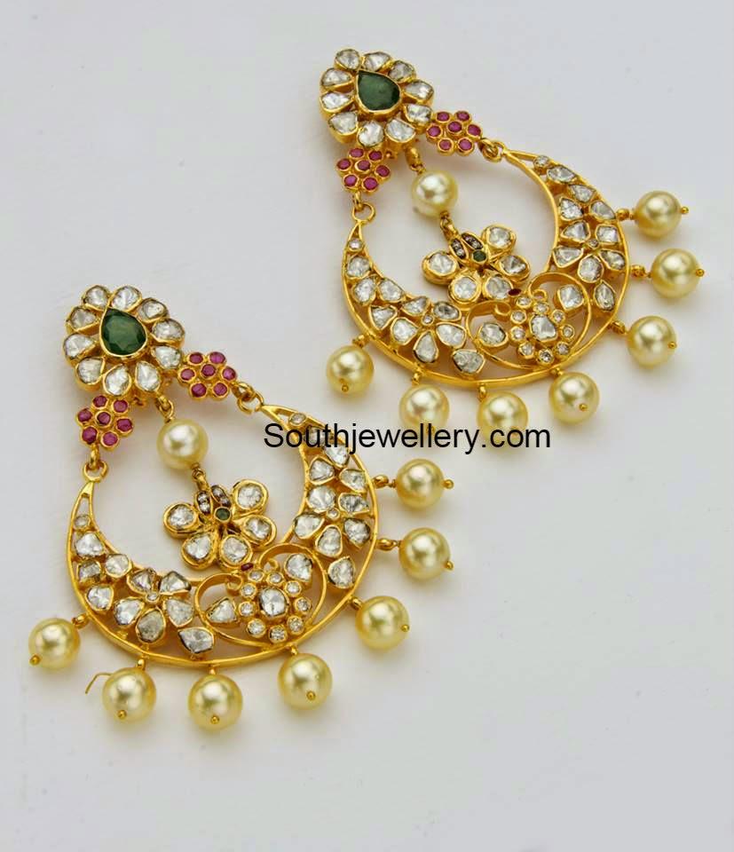 polki chandbali earrings