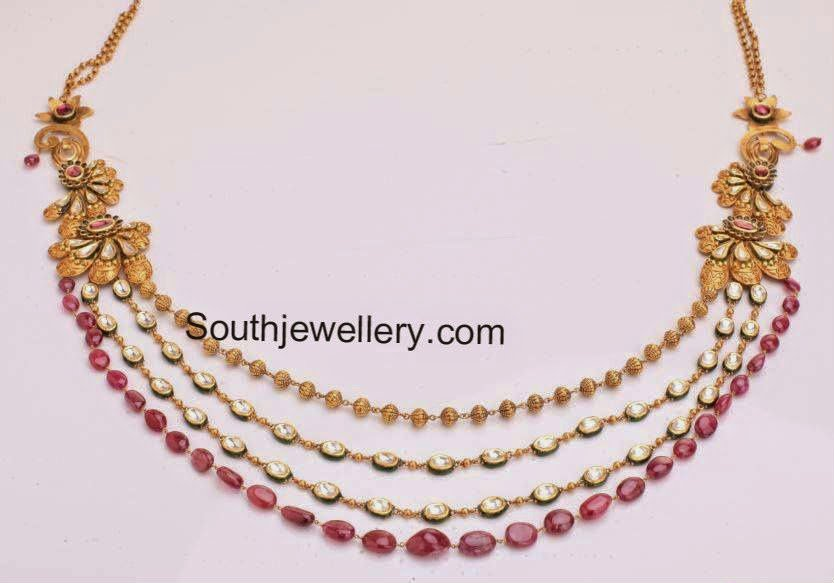 kundan ruby necklace