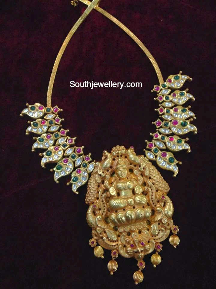 peacock temple necklace