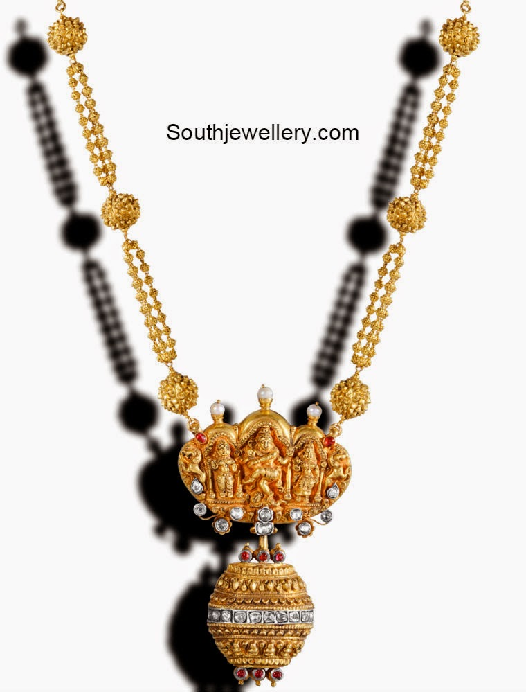 Gold Balls Necklace with Divine Pendant