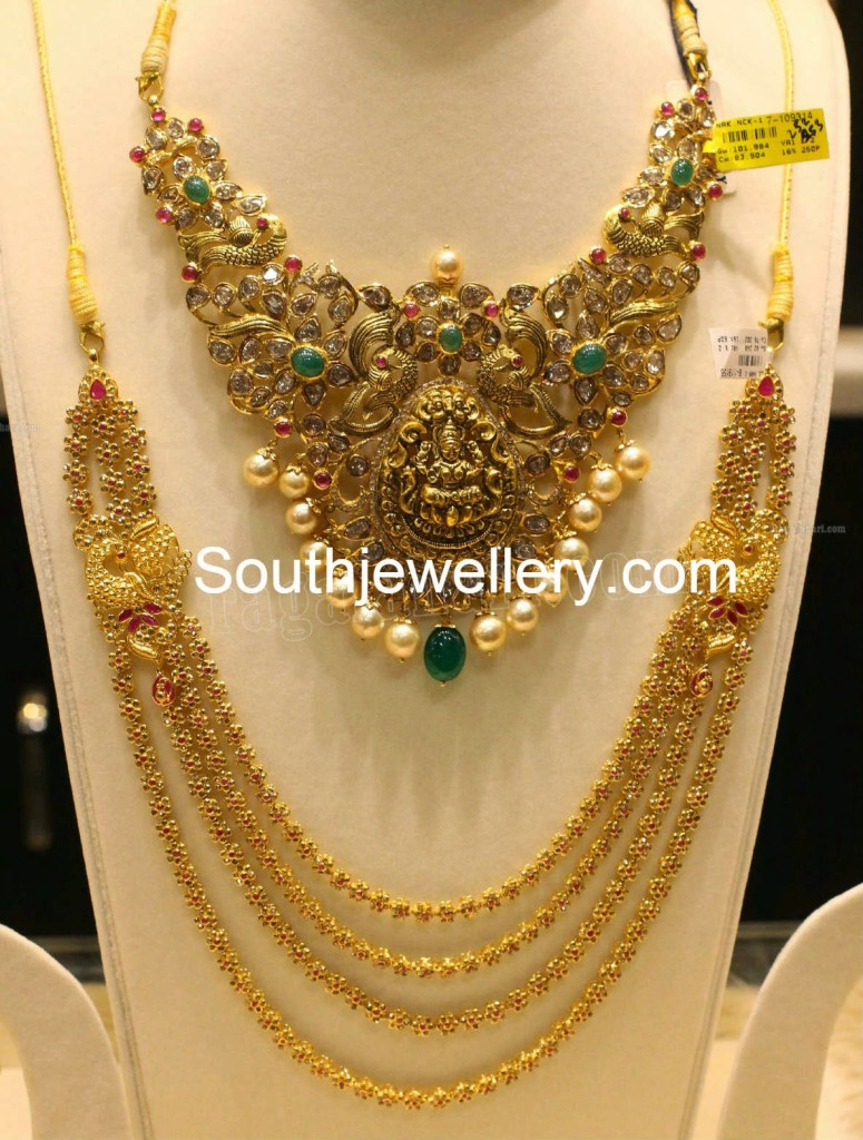 Divine Pacchi Necklace And Uncut Haram Jewellery Designs
