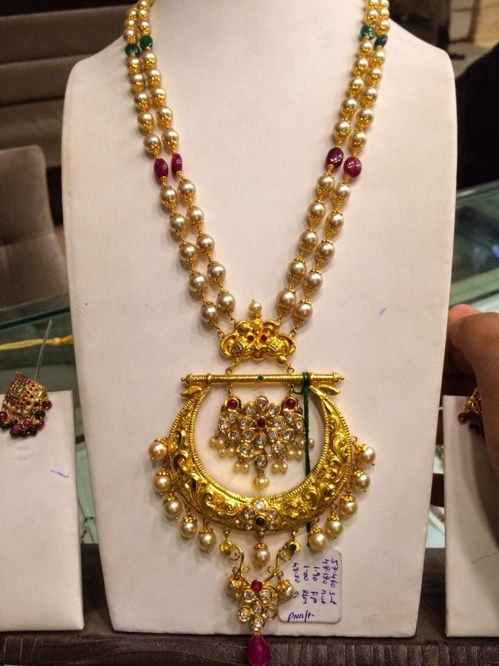 South Sea Pearls Mala with Chandbali Pendant