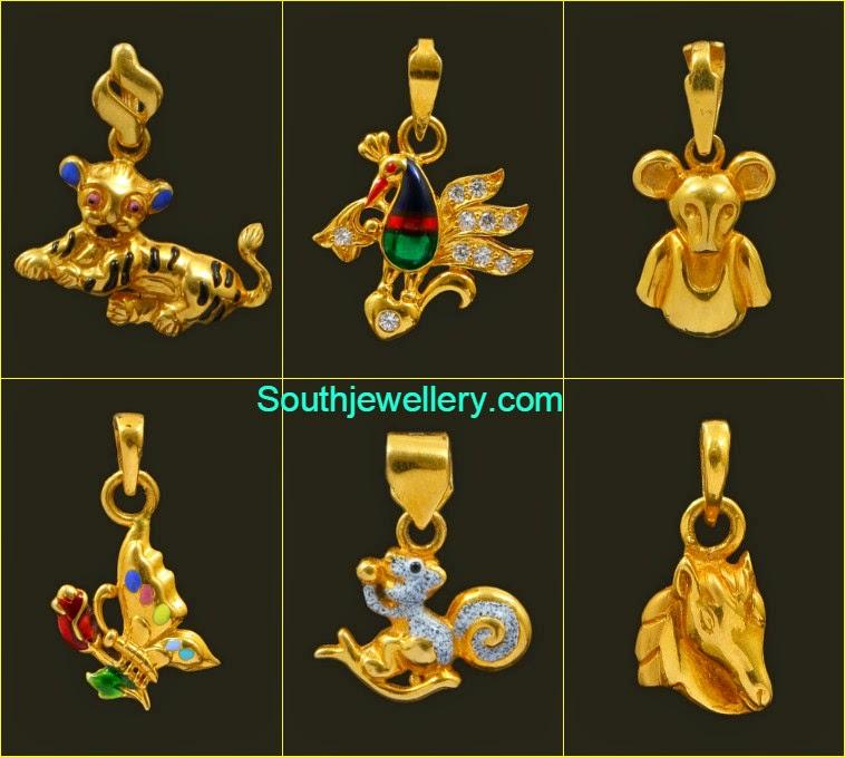 22 carat kids gold pendants