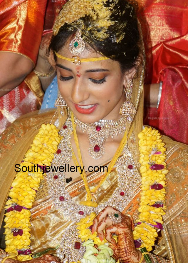 ca9f1efd9e danam_nagender_daughter_marriage_photos southindianbride_diamond_jewelry. south  indian bridal jewellery trends