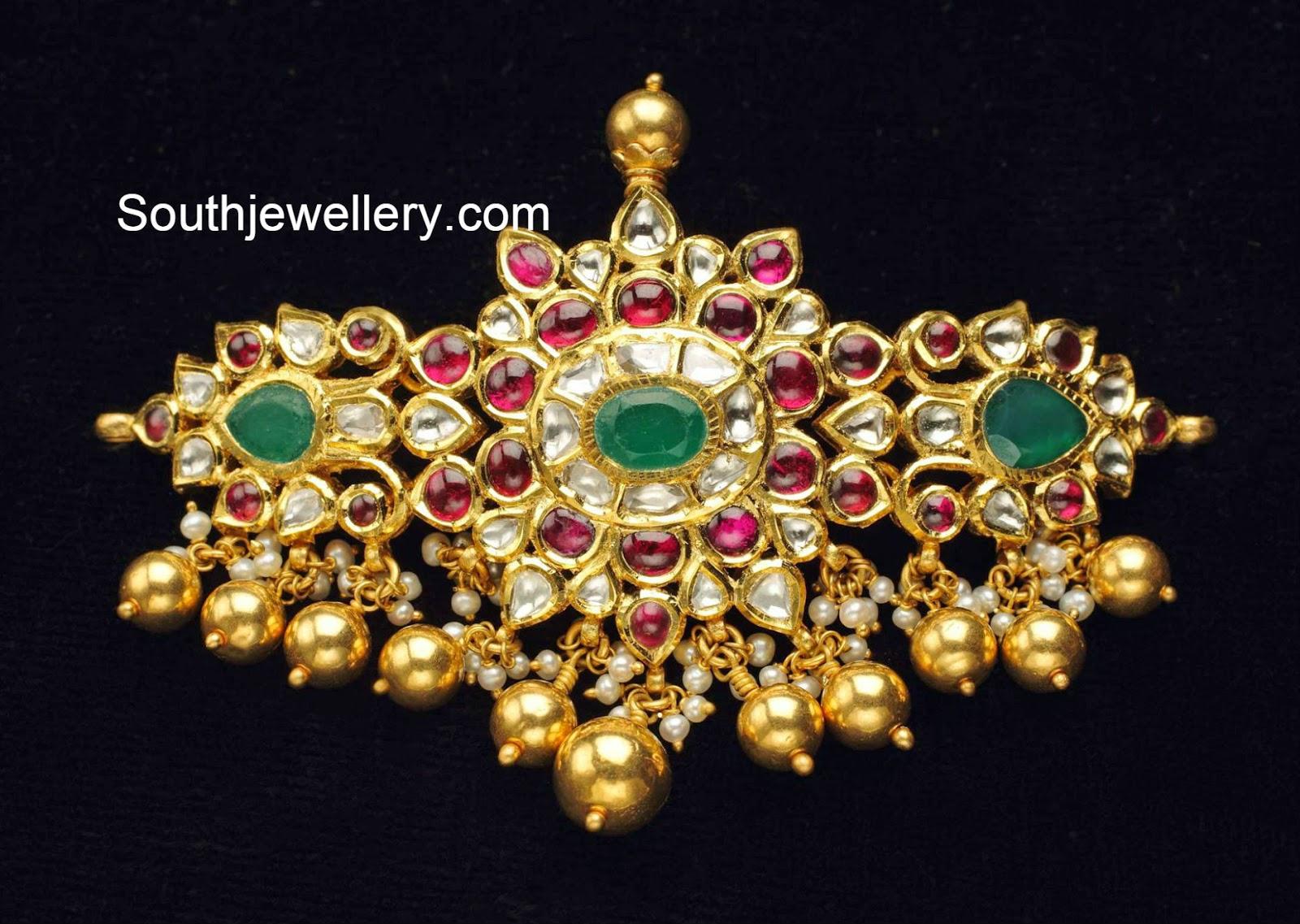 Kundan Choker Cum Bajubandh Jewellery Designs