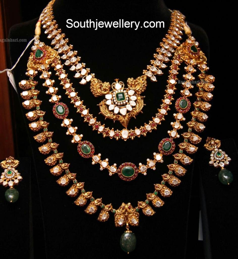 polki diamond mango necklace