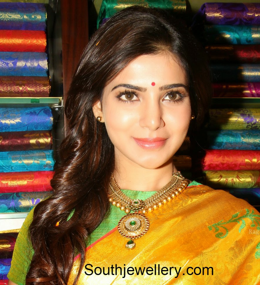 samantha prabhu gold necklace
