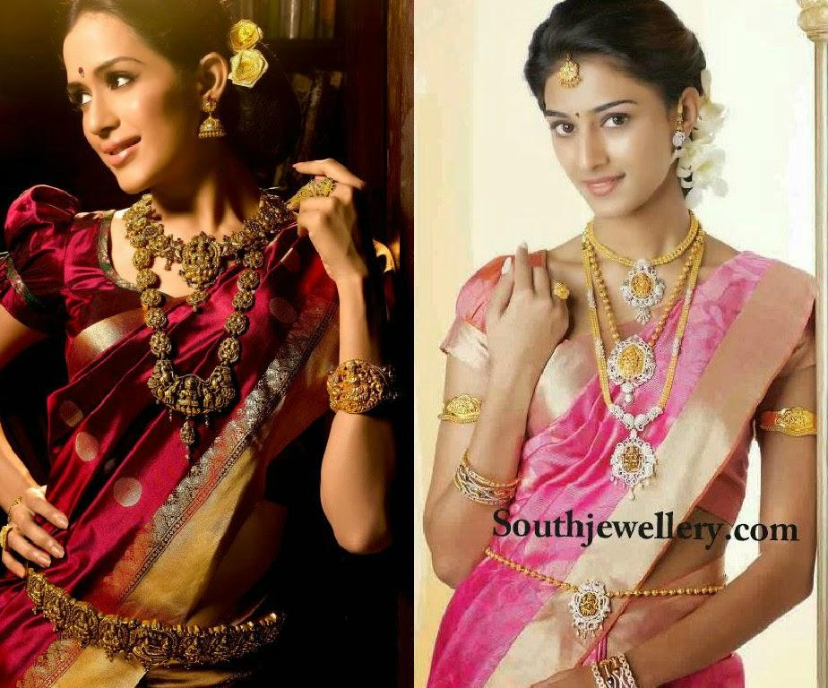 bride in temple jewellery
