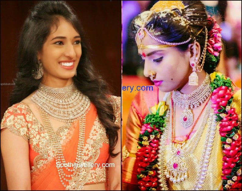 diamond jewelelry for south indian weddings