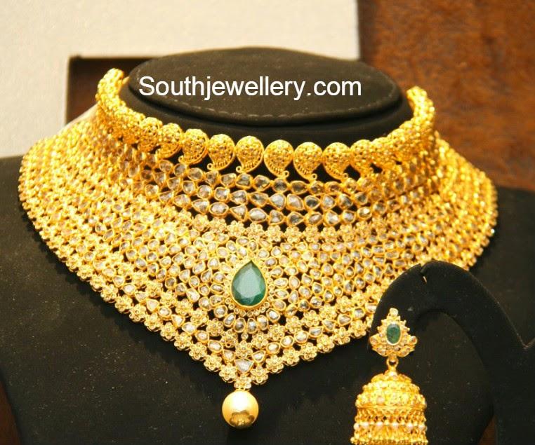 Buy Kundan Choker Necklace Priya Nacc10438c: One Gram Gold Jewellery Latest Jewelry Designs