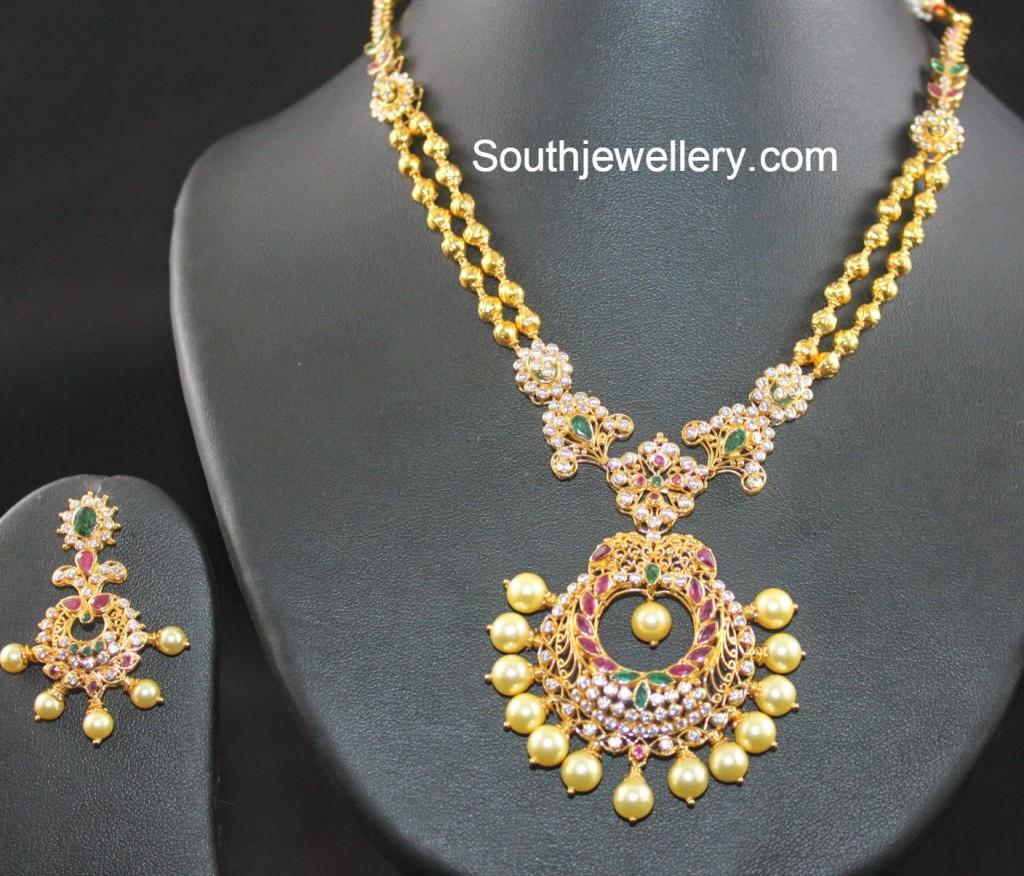 antique cz necklace