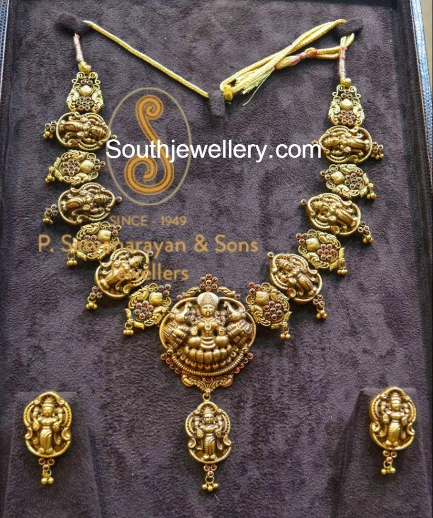 antique lakshmi necklace