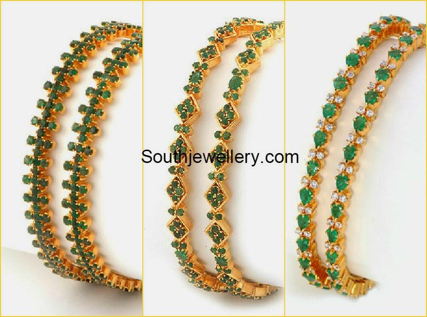 Emerald Bangles latest...