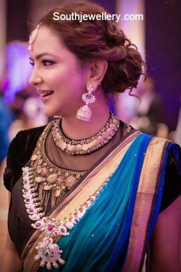 lakshmi manchu jewellery at manchu manoj engagement