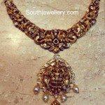 Antique Temple Necklace with Lakshmi Pendant