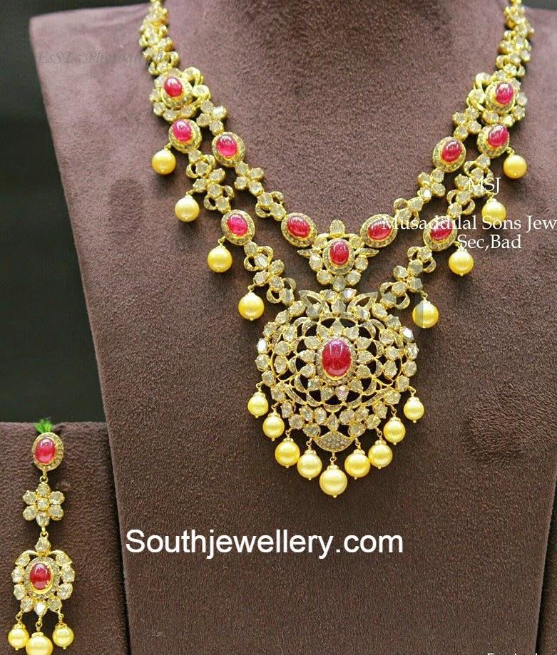 polki diamond necklace