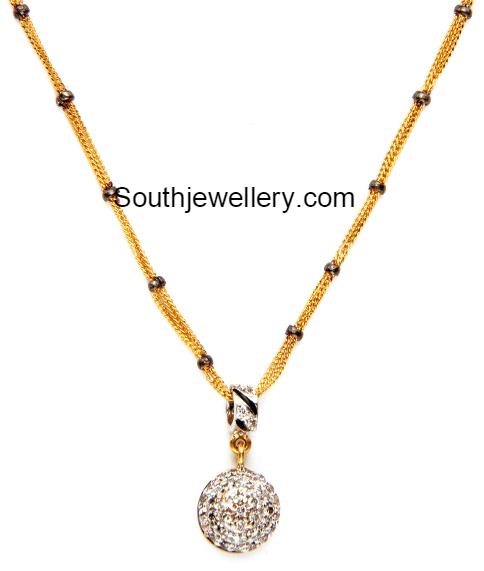 short nallapusalu necklace models