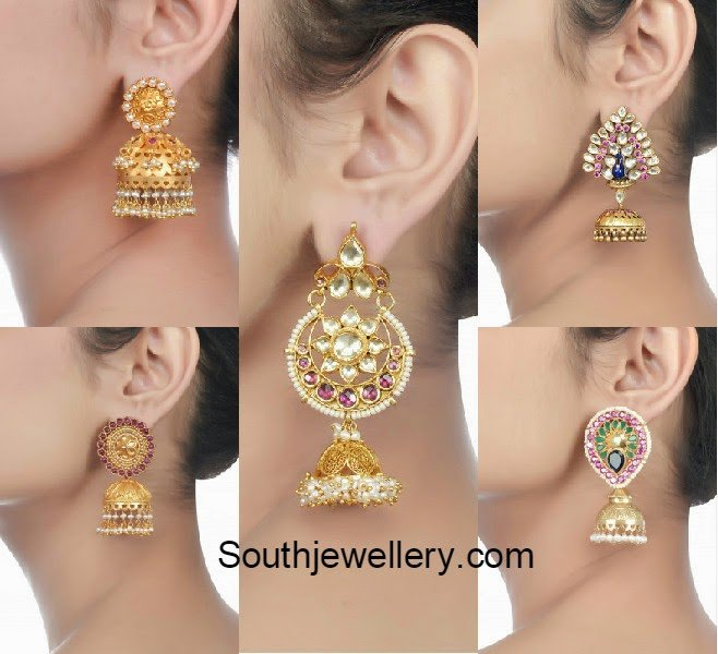 gold plated silver jhumkas