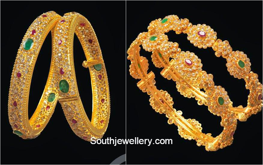 uncut diamond bangles