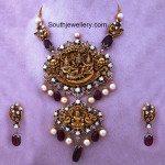 Antique Gold Vishnu Lakshmi Pendant
