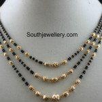 Three Step Black Beads Mangalsutra