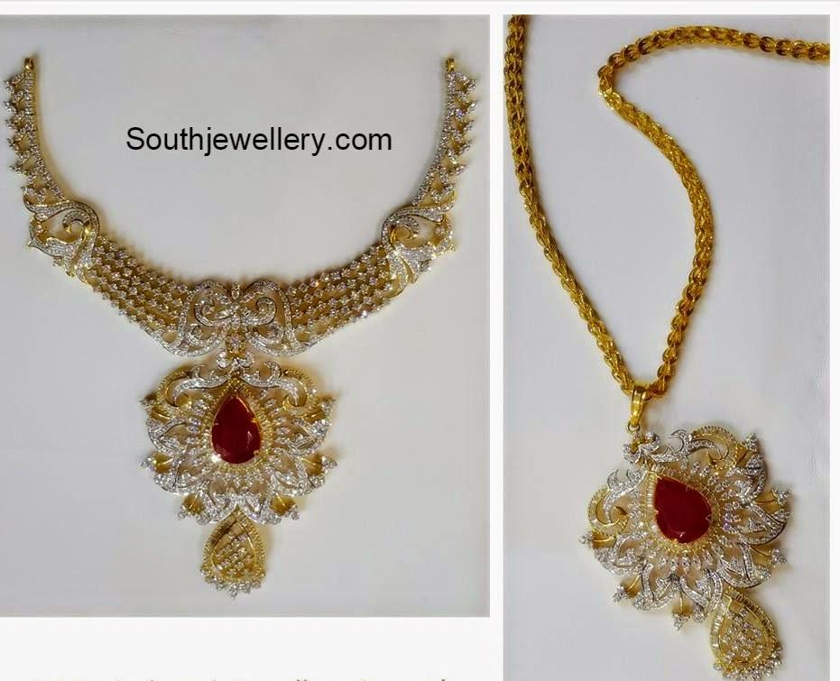 diamond necklace cum pendant