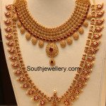 Uncut Necklace and Peacock Mango Haram