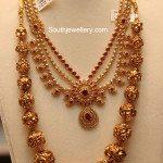 Uncut Mango Necklace and Nakshi Balls Mala