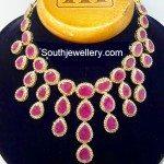 Ruby Uncut Diamond Necklace