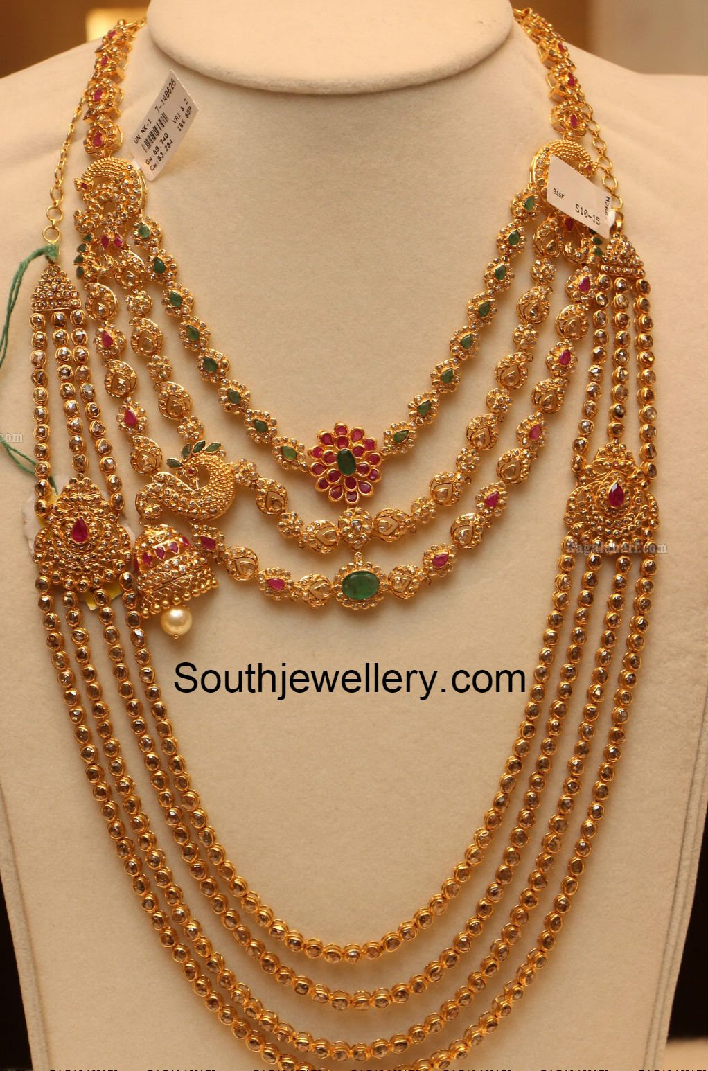 uncut necklace and pachi haram jewellery designs. Black Bedroom Furniture Sets. Home Design Ideas