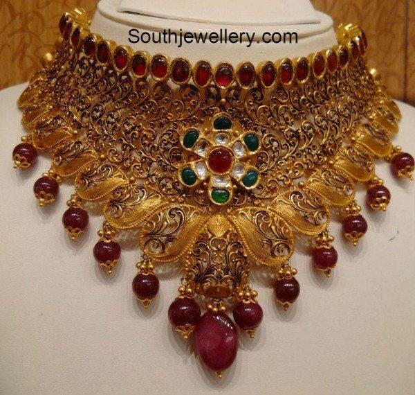 antique_gold_bridal_choker