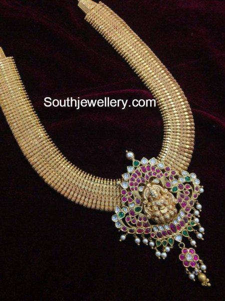antique_necklace_lakshmi_pendant