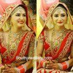 Actress Dhriti Saharan Wedding Jewellery