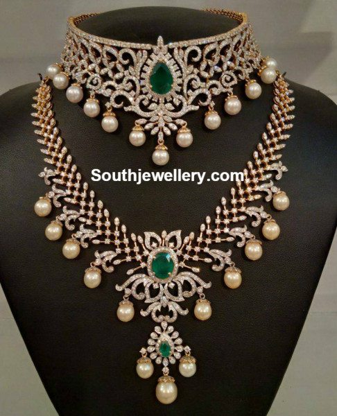 diamond_necklace_and_haram_set_for_brides