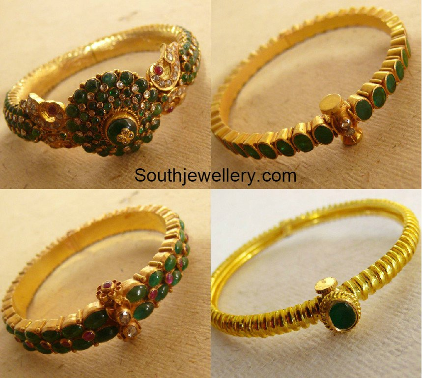 gold kadas latest jewelry designs jewellery designs