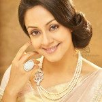 Jyothika in Pearls Mala with Diamond Side Pendant